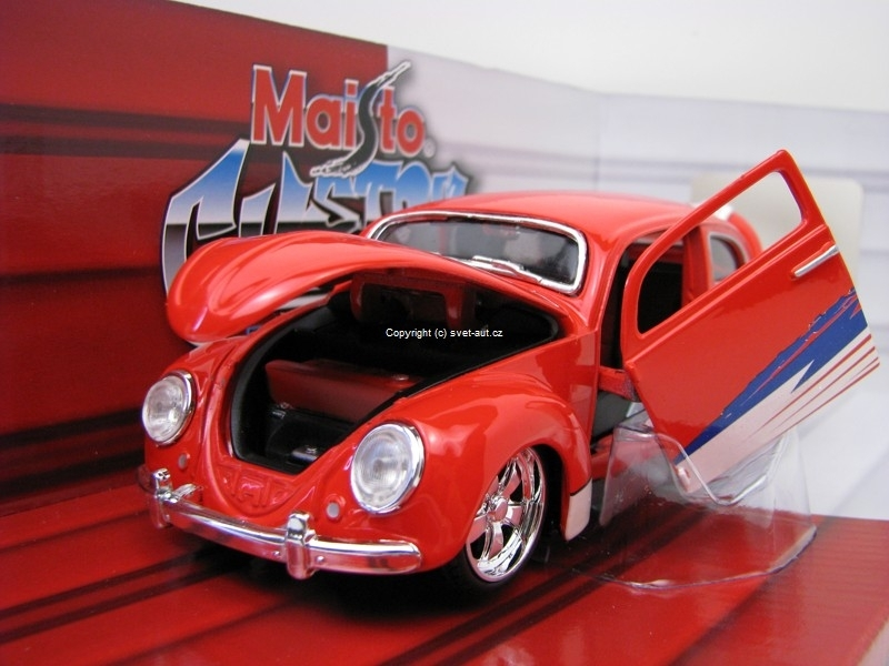 Volkswagen Beetle Tuning red 1:24 Maisto 31023