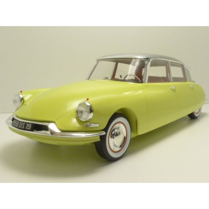 Citroen DS 19 1958 Yellow/Silver 1:12 Norev