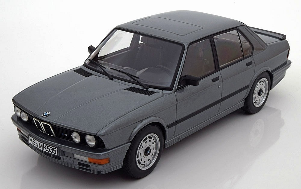 BMW M 535i E28 1986 Grey Metallic 1:18 Norev