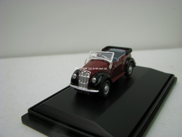 Morris 8 Eight Tourer Maroon black 1:76 Oxford