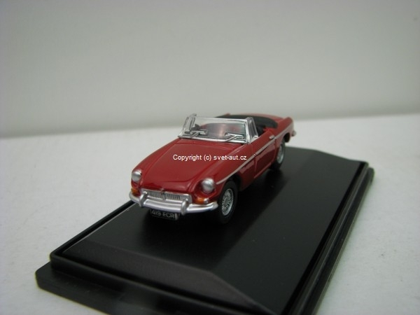 MGB Tartan red 1:76 Oxford