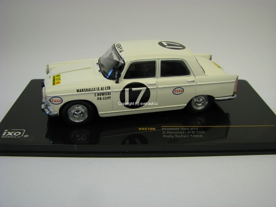 Peugeot 404 No.17 Rally Safari 1968 1:43 IXO