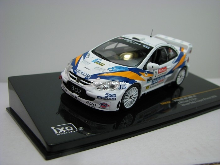 Peugeot 307 WRC Nr.3 Winner Rally Touquet France 2006 1:43 Ixo