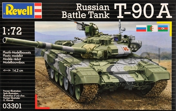 T-90 A Rusian Battle Tank stavebnice 1:72 Revell 03301