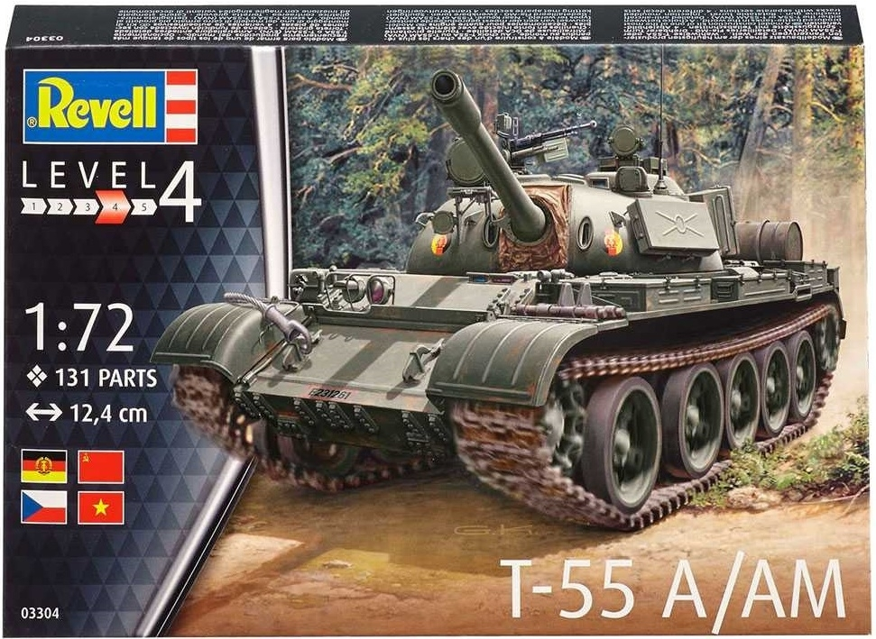 Tank T-55 A/AM stavebnice 1:72 Revell 03304