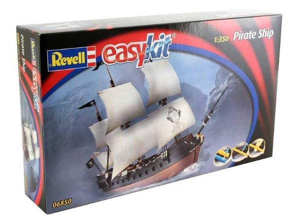 Pirate Ship Pirátská Loď 1:350 Easy Kit Revell 06850