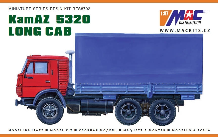 KamAZ 5320 Long Cab Resin Kit 1:87 MAC