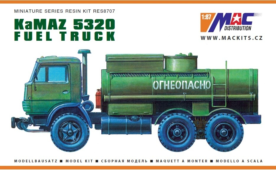 KamAZ 5320 AC-9 Fuel Truck Resin Kit 1:87 MAC