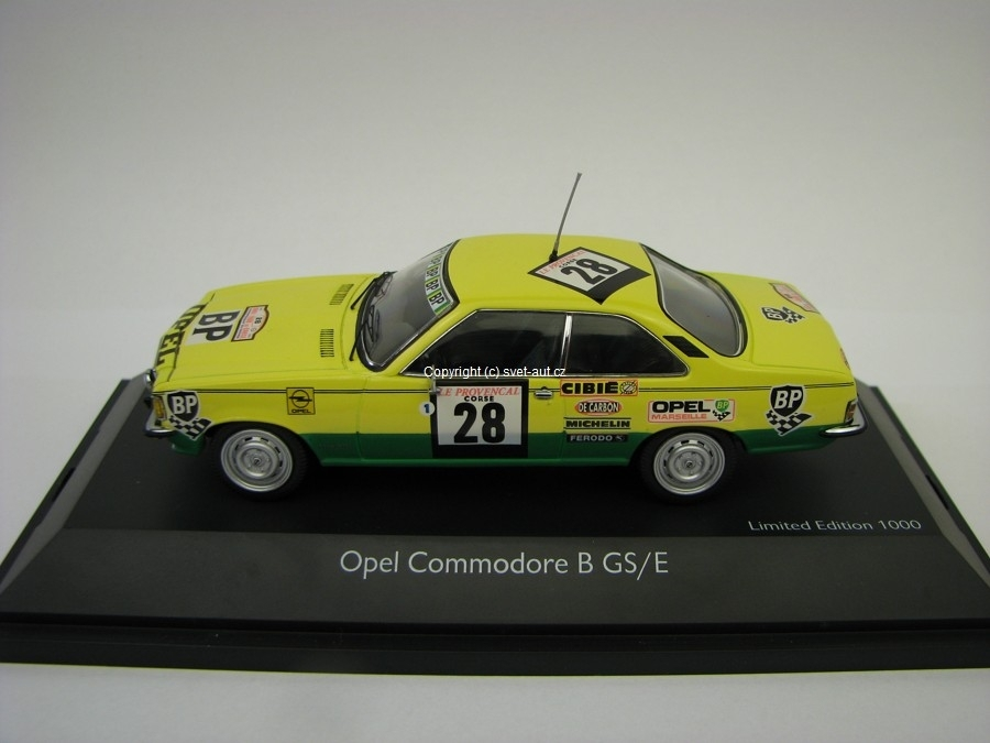 Opel Commodore B GS/E Tour de Corse 1974 No.28 1:43 Schuco