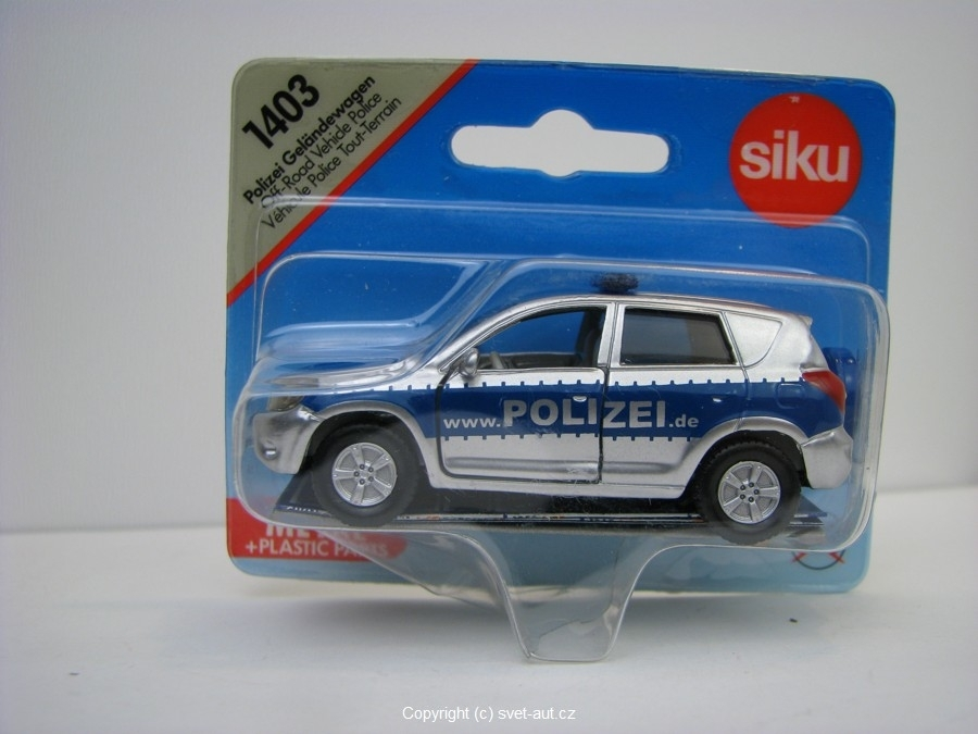 Toyota Rav 4 Polizei model Siku 1403