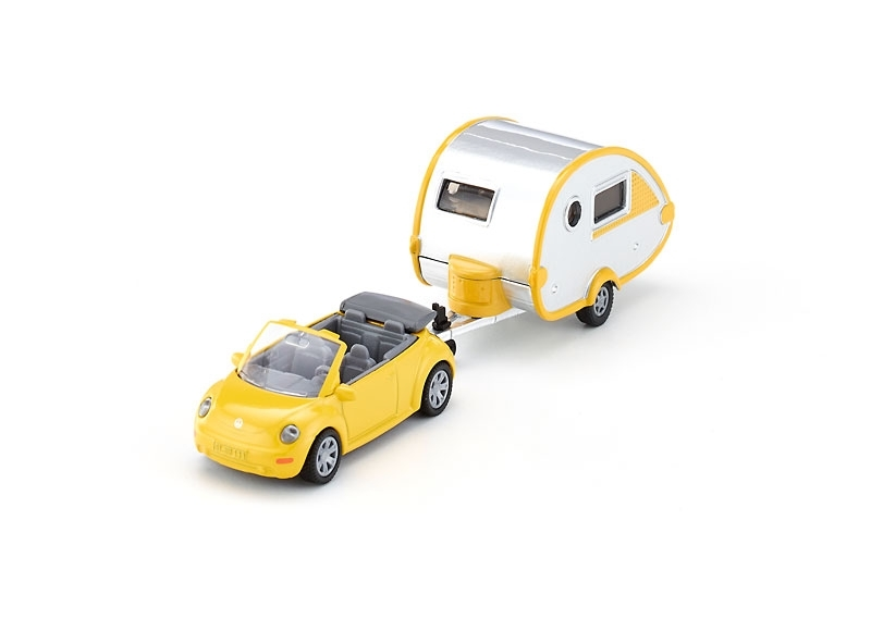 Volkswagen New Beetle s Caravanem model 1:55 Siku 1629