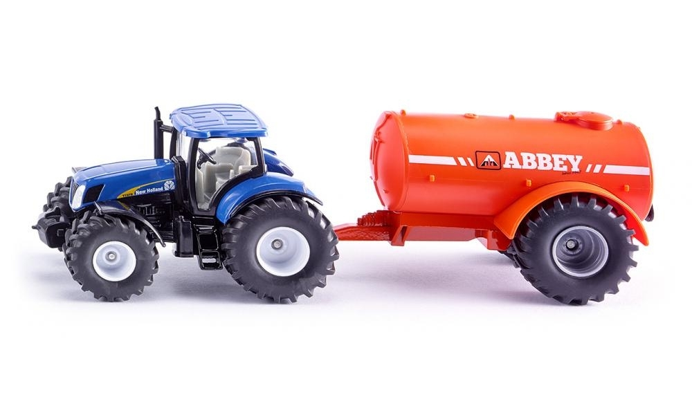 Traktor New Holland s cisternou kejdy Abbey 1:50 Siku Farmer 1945