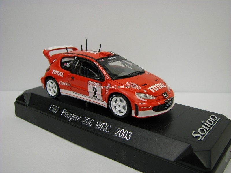 Peugeot 206 WRC No.2 Burns Rally MC 2003 1:43 Solido