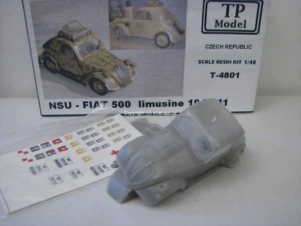NSU - Fiat 500 limousine 1940-41 1:48 Resin Kit