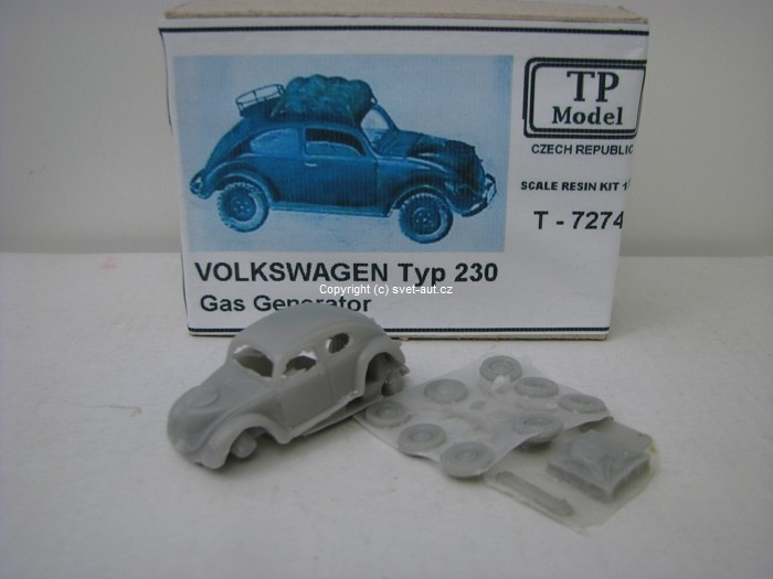 Volkswagen Typ 230 Gas Generator 1:72 Resin Kit TP