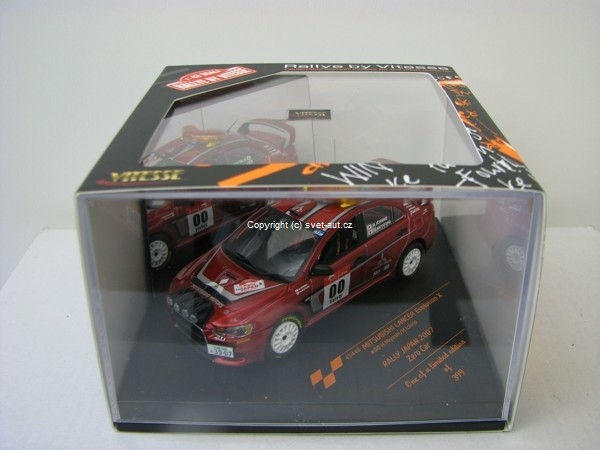 Mitsubishi Lancer Evolution X No.00 Mioshi Rally Japan 2007 Zero
