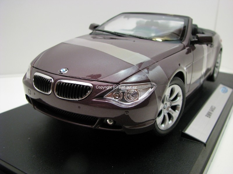 BMW 645Ci Convertible Maroon Purple 1:18 Welly