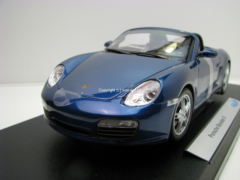 Porsche Boxster S Convertible Blue 1:18 Welly