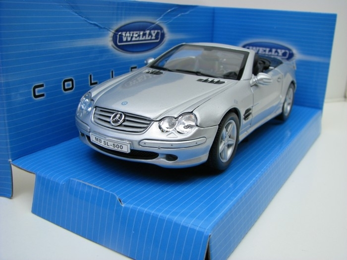 Mercedes-Benz SL 500 silver 1:24 Welly