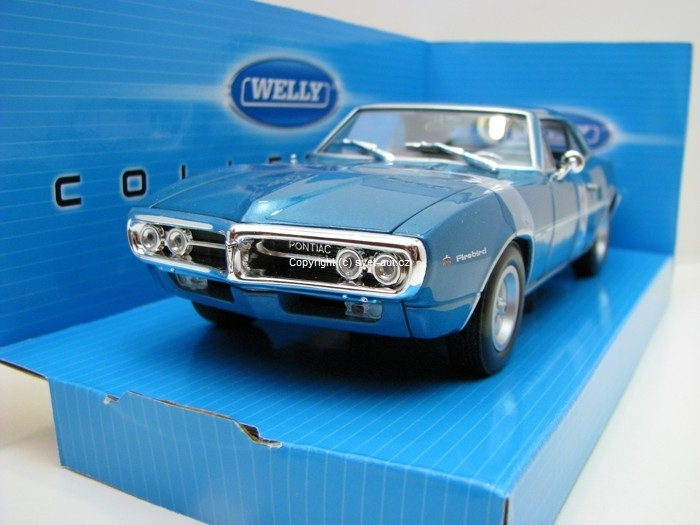 Pontiac Firebird 1967 Blue 1:24 Welly
