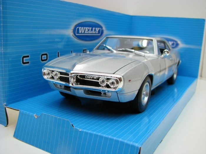 Pontiac Firebird 1967 Silver 1:24 Welly