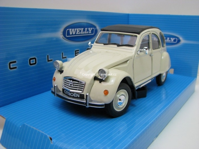 Citroen 2CV creme 1:24 Welly