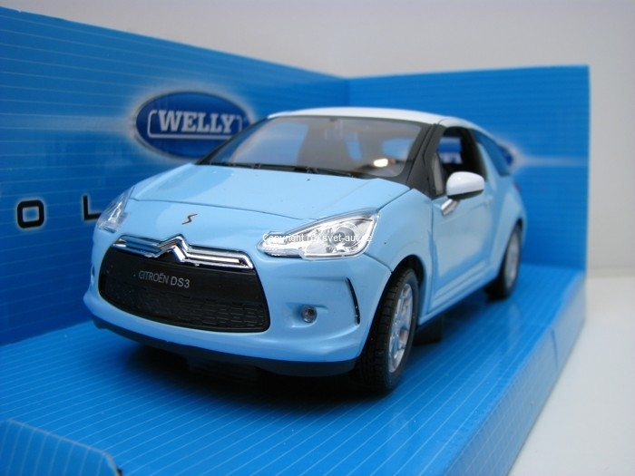 Citroen DS3 2011 light blue 1:24 Welly