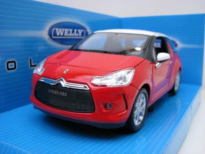 Citroen DS3 2011 red 1:24 Welly