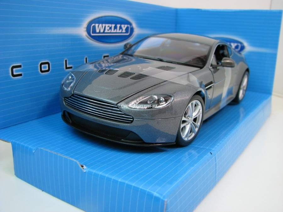Aston Martin V12 Vantage 2010 grey 1:24 Welly