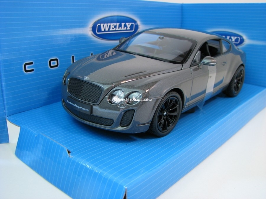 Bentley Continental Supersports grey 1:24 Welly