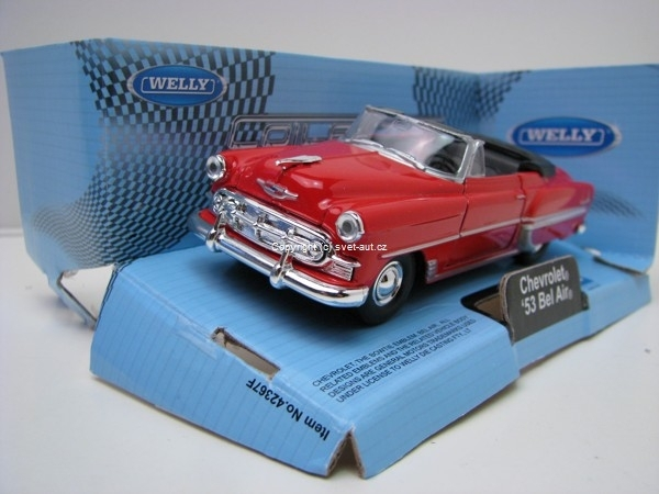Chevrolet Bel Air 1953 Cabrio red 1:32 - 36 Welly