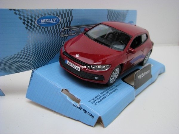 Volkswagen Scirocco red 1:32-36 Welly