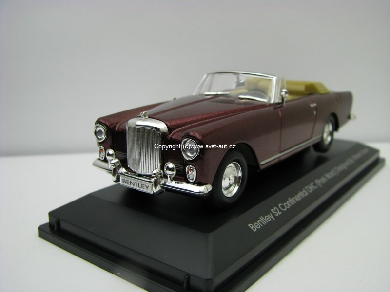 Bentley S2 Continental DHC purple 1961 1:43 Yat Ming