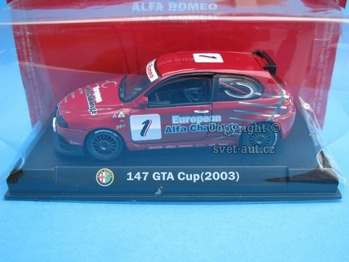 Alfa Romeo 147 GTA Cup No.1 2003 1:43 Atlas