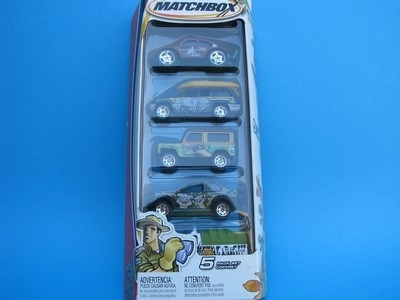 Set 5 aut Safari 1:64 Matchbox