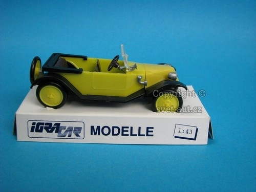 Tatra 11 Faeton 1924 yellow cabrio 1:43 Igra - Model Toys