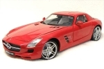 Mercedes-Benz SLS AMG red 1:18 Mondo