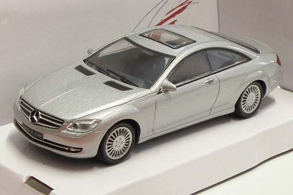 Mercedes-Benz CL Coupe silver 1:43 Mondo Motors