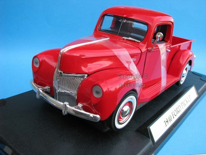 Ford Pick Up 1940 red 1:18 Motormax
