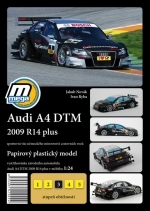 Audi A4 DTM 2009 R14 plus papírový model 1:24 Mega Graphic