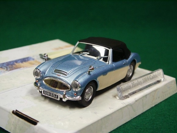 Austin Healey 100/6 Cabriolet Hard top blue 1:43 Cararama