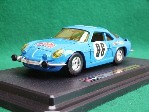 Renault Alpine Rally Blue Nr.96 model k 30 let výročí 1:24 Bburago Italy