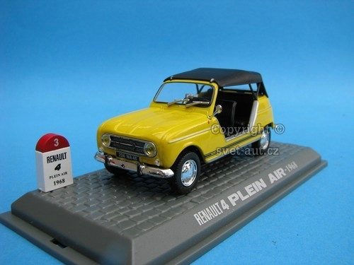 Renault 4 Plein Air 1968 yellow 1:43 Universal Hobbies