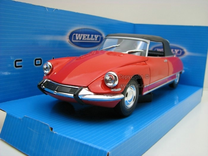 Citroen DS 19 Cabriolet hard top red 1:24 Welly
