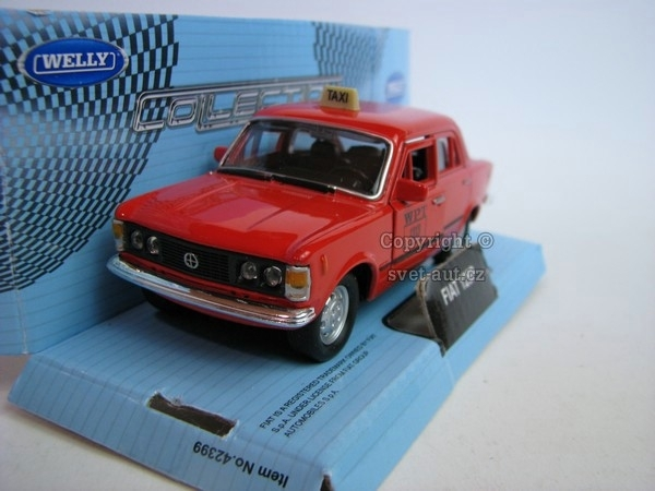 Fiat 125P TAXI red 1:32 - 36 Welly