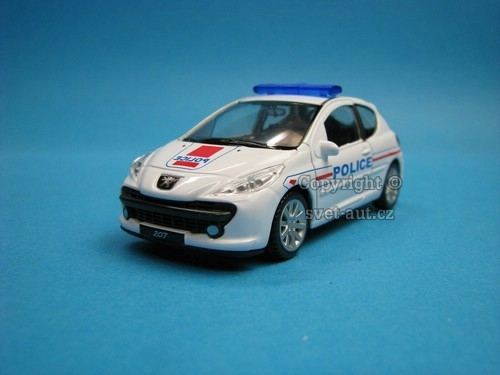 Peugeot 207 Police 1:43 Welly