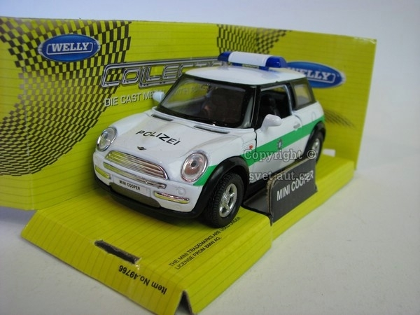 Mini Cooper New POLIZEI 1:36 Welly