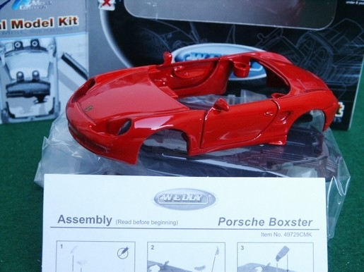 Porsche Boxster red Kit 1:36 Welly